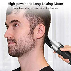 Hair Clippers for Men SUPRENT Cordless Professional Hair Clippers Rechargeable Hair Trimmer for Man, Hair cutting Kit with Ceramic Blade Quick Charge Men Hair Clippers for Family Use (BLACK) (Color: Black)