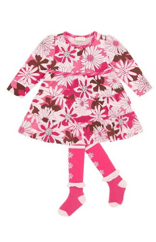 le top Pretty as a Flower Infant Corduroy Dress and Tights Set (24 - Corduroy Tights Dress
