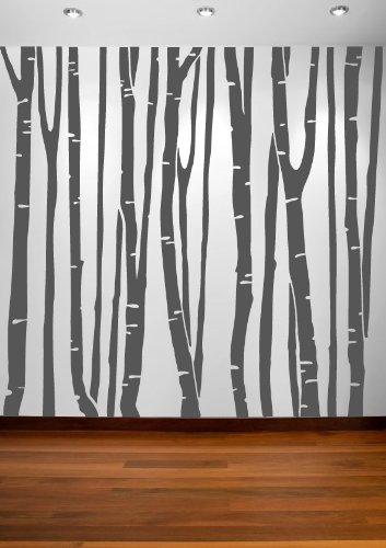 Large Wall Birch Tree Decal Forest Kids Vinyl Sticker Removable - Vinyl wall decals birch tree