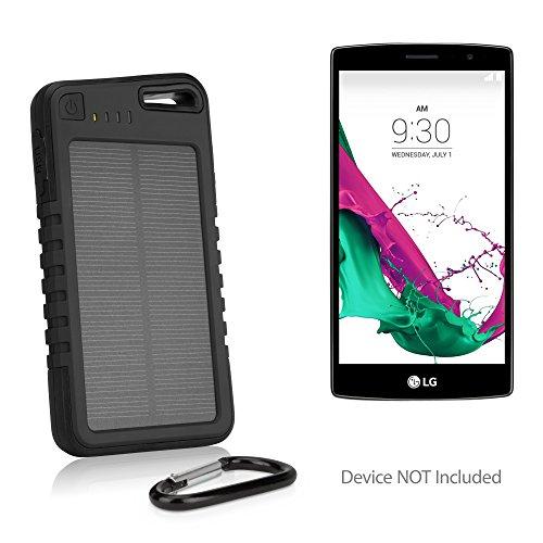 LG G6 Battery, BoxWave® [Solar Rejuva PowerPack (5000mAh)] Solar Powered Backup Power Bank for LG G6 - Jet Black