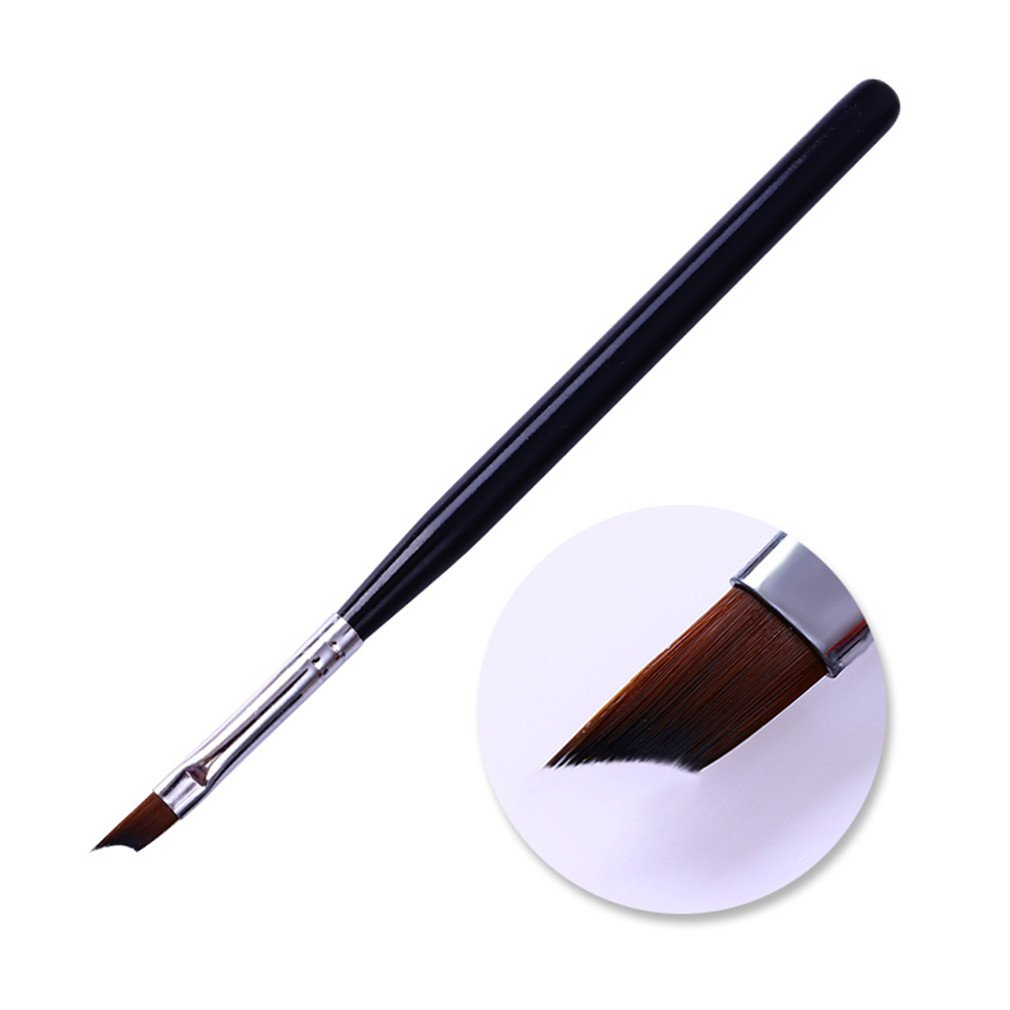 Tip Nail Brush Acrylic Drawing Painting Pen Black Handle Design Manicure Nail Art Tool Pattern 1