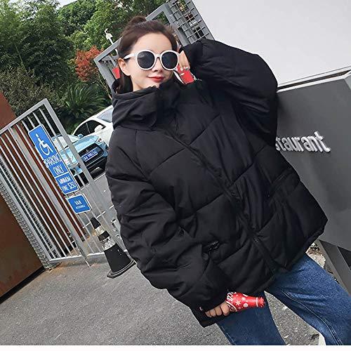 Fluff Doudoune Slim Blanc Veston La Capuche Avec Fourrure Chaud À Zipper Femme Vest Femmes Court Manteau Manteau Noir Hiver Bonggong Fille Épais HABBUq