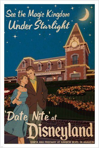 DISNEYLAND vintage poster KINGDOM starlight product image