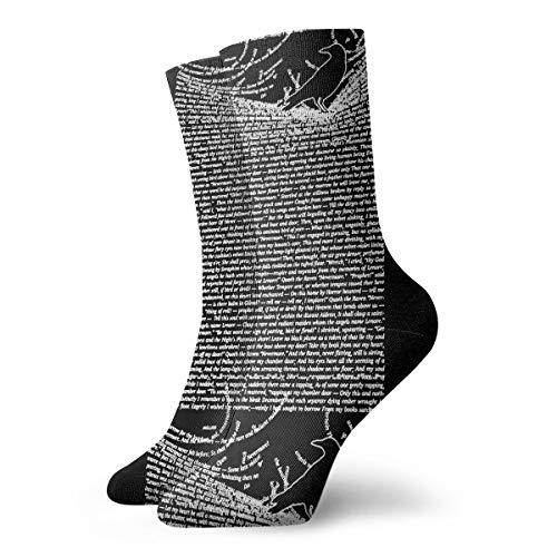 All Season Soft Crew Socks For Unisex The Raven By Edgar Allan Poe Socks