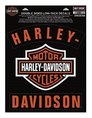 Harley-Davidson H-D Bar & Shield Rockers Window Cling - 8.5 x 11.25 in ()
