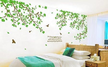 Sticker Mural 170 cm Graz Design Sticker Mural d/écoratif pour Chambre denfant Grand Autocollant Mural Motif Arbre Vert de 6 Voies h colorfulworld @XXXL