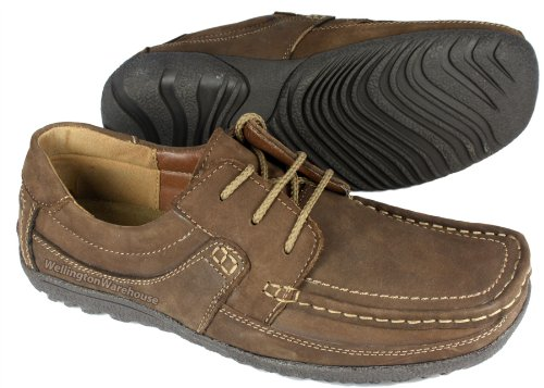 Monaco pour homme Marron ou Brun Clair en Cuir Souple Léger Casual Chaussures à lacets - Marron - marron,