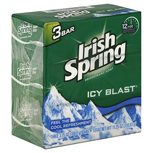 Irish Spring Original Deodorant Soap 3 Bars, 2 Pack (6 Total)