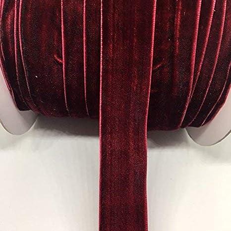: 1 Inch Burgundy Velvet Ribbon Single Face Price