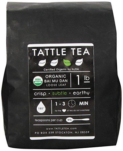 Tattle Tea Organic Bai Mu Dan White Tea, 1 Pound