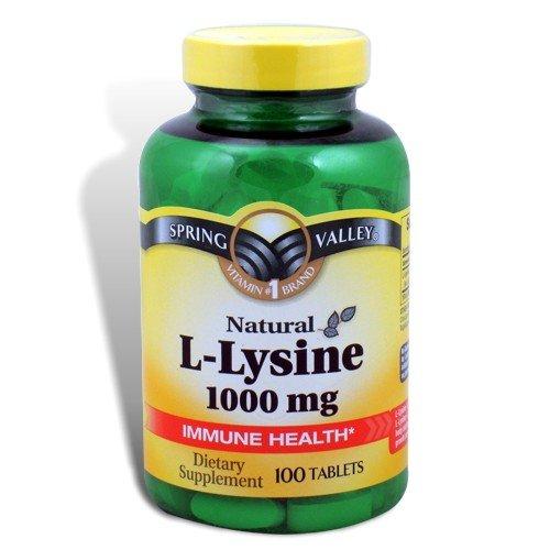 Spring Valley - L-Lysine 1000 mg, 100 comprimés