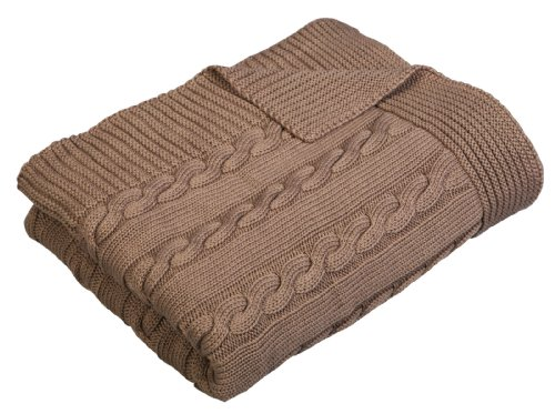 Arus Luxury Cotton Cable Knit Throw Blanket, ()