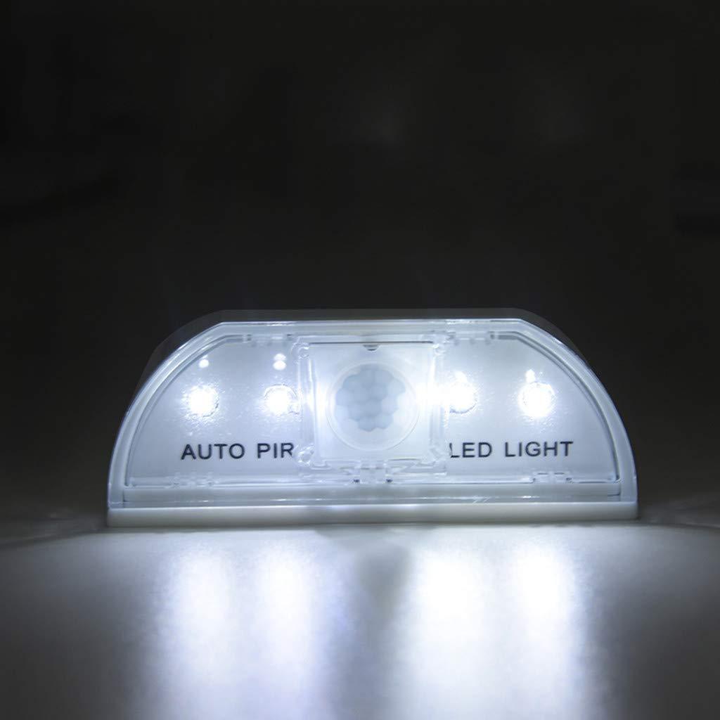 Quaanti Door Lock Light with 4 LED, Keyhole Light LED Intelligent Door Lock Cabinet,Key Induction Small Night Light Auto Sensor Lamp for Key Hole, Door Lock, Bedroom, Stairway (White) by Quaanti (Image #4)