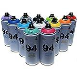 indoor paint colors Montana MTN 94 Spray Paint 400ml Popular Colors Set of 12 Graffiti Street Art Mural Aerosol Paint Main Set 1