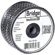 """Taulman 2.85mm spool nylon""""Bridge"""" Black, 1 lb"""