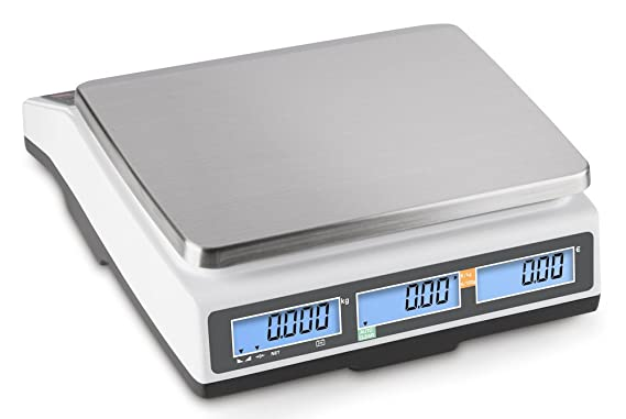 Carga Báscula con escaneado Autorización y memoria puestos para artículo Precios [Kern RPB 15 K2DM] Precisión hasta 2 G/5 G, rango de pesaje Max.