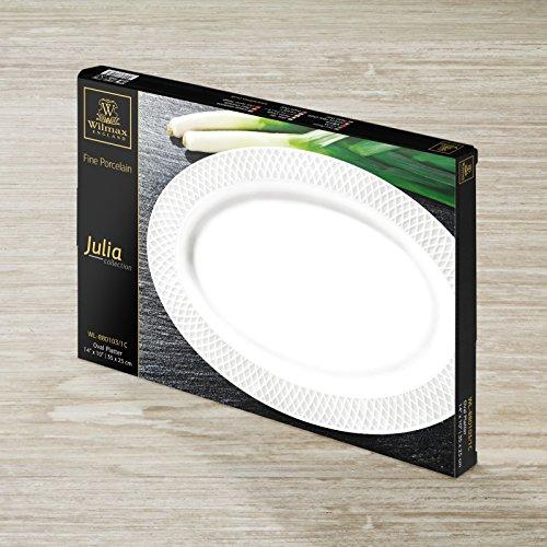 Wilmax WL-880103/1C Julia Oval Platter 14