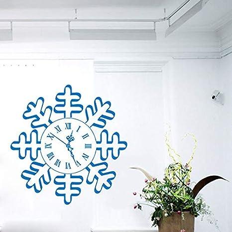 wangpdp Feliz Año Nuevo Tatuajes de Pared Reloj de Copo de Nieve ...