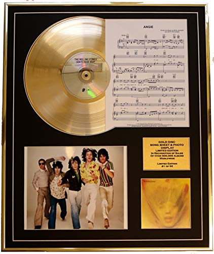 EC The Rolling Stones/CD Gold DISC, Song Sheet & Photo Display/Album Goats Head Soup/SONGSHEET Angie