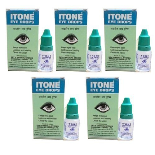 5 x Itone Ayurvedic Herbal Eye Drops Natural Allergies 10ml --