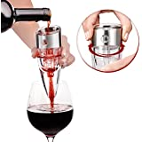 UNIQUE: Wine Aerator Decanter Pourer with 6-SPEED FLOW CONTROLLER - Tune the Flavor of the Vino to Your Own Taste , Spout the Best Quality of Life into Your glass . The Necessary Accessory Gift