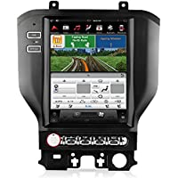 AIMTOM FTYM-104 2015-2018 Ford Mustang In-dash GPS Navigation Radio Bluetooth A2DP Stereo Tesla-Style Vertical 10.4 HD Touch Screen AV Receiver Built-in Wi-Fi Infotainment System Android Google Play
