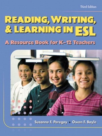 reading writing and learning in esl Available in: paperback reading, writing, and learning in esl gets better and better: tailored for the needs of.