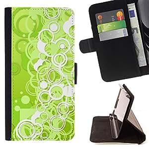 Jordan Colourful Shop - wallpaper green neon bubbles circle dot For Apple Iphone 6 PLUS 5.5 - < Leather Case Absorci????n cubierta de la caja de alto impacto > -