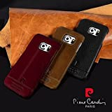 *Casecart* Genuine Italian Leather Back Case Cover for Samsung Galaxy S6 Edge - Tan Brown