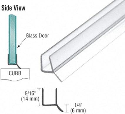 Junta para puerta de ducha puerta de cristal para vidrio de 6 mm//8 mm//10 mm//12 mm de grosor 200 cm F Shape repelente de agua