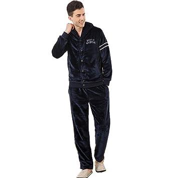 Manga larga franela solapa pijama bata invierno ropa de dormir últimos hombres que puede ser usado