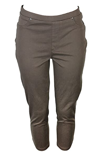 622e1c91d83 Style   Co. Plus Size Pull-On Capri Leggings In Brown Clay at Amazon ...