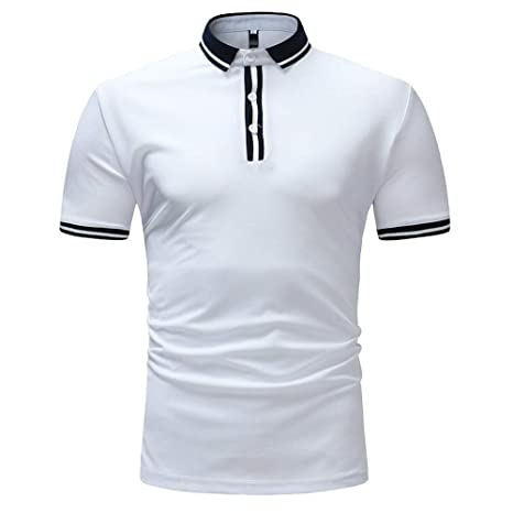 NISHISHOUZI Polo,Transpirable Camisetas Polo Manga Corta Blanco ...