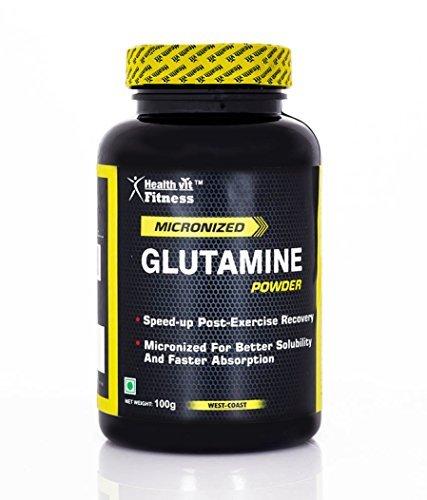 Healthvit Micronized Glutamine Powder - 100 g (Unflavored) from Healthvit