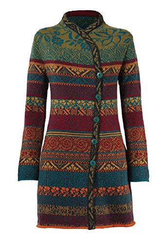IVKO Balkan Fusion Jaquard Long Jacket, Anthracite (US 6 - EUR 36) (Womens Fusion Jacket)