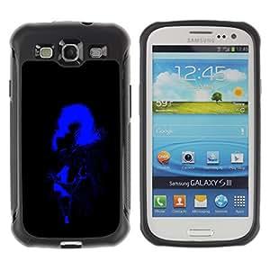 Be-Star único patrón Impacto Shock - Absorción y Anti-Arañazos Funda Carcasa Case Bumper Para SAMSUNG Galaxy S3 III / i9300 / i747 ( Blue Man Shadow )