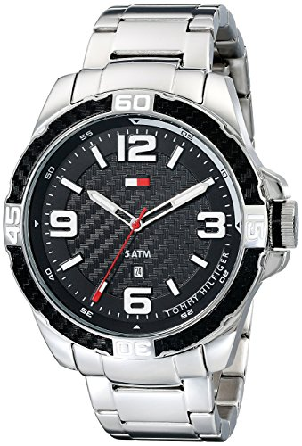 Tommy Hilfiger Men's 1791092 Analog Display Quartz Silver Watch
