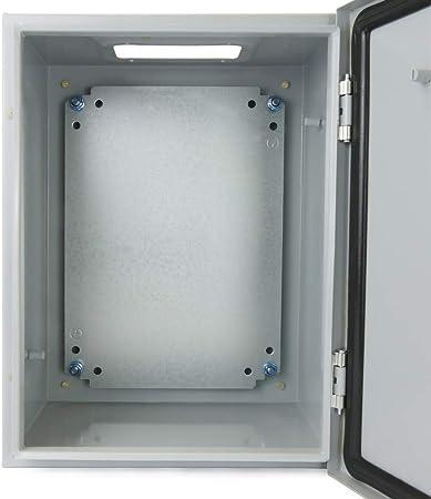 BeMatik - Caja de distribución eléctrica metálica con protección IP65 para fijación a Pared 400x300x200mm: Amazon.es: Electrónica