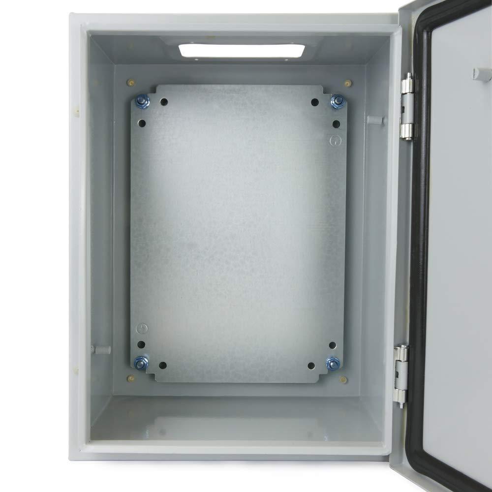 Elektroverteilung Metall IP65 f/ür Wandmontage 600x400x300mm BeMatik