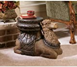 16'' Persian Sultan Camel Animal Sculptural Side Table Accent