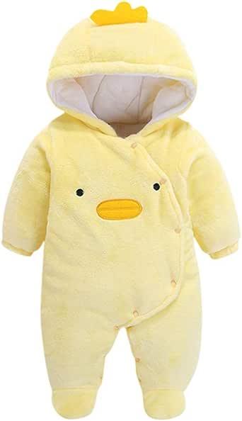 Bebé Niño Mameluco Terciopelo Lindo Mono Amarillo con Capucha y ...