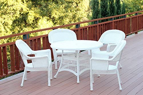 Jeco 5 Piece Wicker Outdoor Dining Set