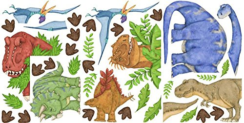 - Borders Unlimited In Dinosaur Land Repositionable Peel & Stick Wall Sticker Appliques