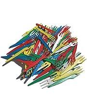 Patatas Tenedores Multicolor Plástico–100Unidades