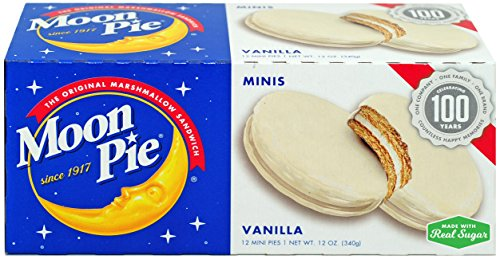 MoonPie Mini, Vanilla, 1oz, 12 Count (Pack of 12, 144 Count Total) (Vanilla Pie)