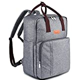 BALORAY Baby Diaper Bag Backpack with 14 Pockets Multi-Function Waterproof Travel Nappy Tote Bags Large Capacity Stylish Design For Both Mon&Dad (Grey)