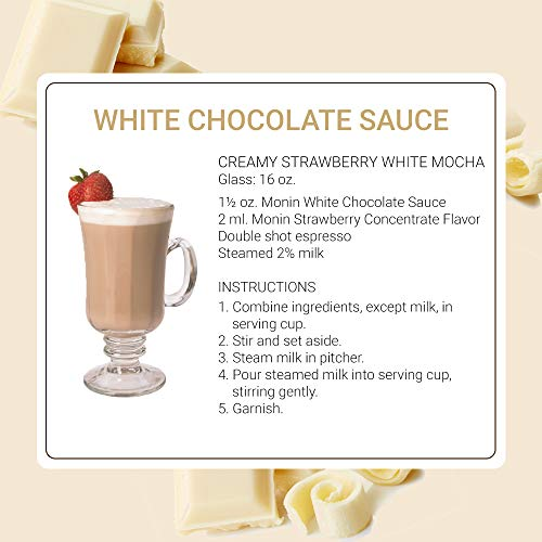 Monin - Gourmet White Chocolate Sauce, Creamy and Buttery