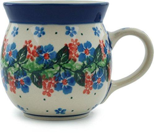Polish Pottery Bubble Mug 8 oz Summer Wreath (Pottery Mugs Beautiful)