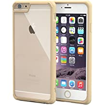 iPhone 6s Plus Case, roocase [Plexis] iPhone 6s Plus Slim Fit Ultra Clear Back PC / TPU Skin Case Cover for Apple iPhone 6 Plus / 6s Plus (2015), Champagne Gold