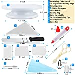 Cake Decorating Supplies 36 Pieces Cake Supplies with Revolving Plastic Turntable, 24 Stainless Steel Decorating Tips, 3 Plastic Scrapers, Icing Spatular, Pastry Bag 30 EVERYTHING NEEDED TO DECORATE CAKE - Cake turntable stand, 24 Stainless Steel icing Tip set, 1 Cake Decorating Turntable 11 inch , 1 Icing Spatula With Sided 11 inch, 1 Reusable Silicone Pastry Bags, 1 Cake Tip Brush,1 Cake Flower Lifter,1 Cake Pen, 3 Cake Scrapers, 1Piping Tip Coupler, 20 Disposable Pastry Bag. A MUST HAVE STAND FOR BAKING LOVERS - Make beautiful cakes with the Growses cake decorating supplies package. The rotating Cake decorating stand help you to easily decorate round cakes and other desserts for birthdays, parties, weddings and other events. The Round Turntable is robust, made from non sticky plastic, non-toxic, dishwasher safe, ideal for beginners as well as for professionals. MORE ICING BAGS FOR USING - 1 pastry bag and 1 disposable pastry bags, perfect for decorating with milti-color cream, Plastic Couplers can be easier to change piping tips.